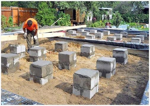 Фундаментные блоки своими руками 58